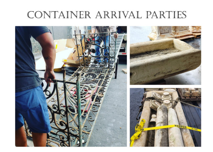 Container Arrival Parties