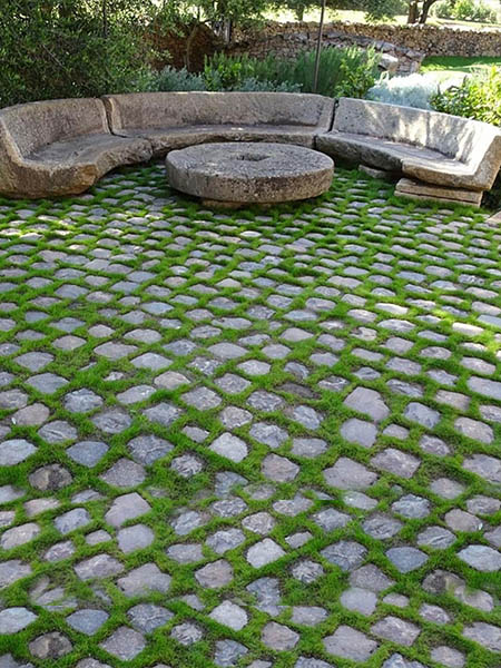 18th Century Cider Mill Stone Benches and a Millstone Table from Normandy